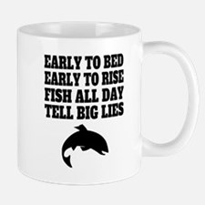 Fish All Day Tell Big Lies Mugs