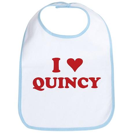 I LOVE QUINCY Bib