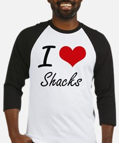 I Love Shacks Baseball Jersey