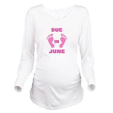 Funny June baby Long Sleeve Maternity T-Shirt