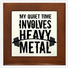My Quiet Time Involves Heavy Metal Framed Tile