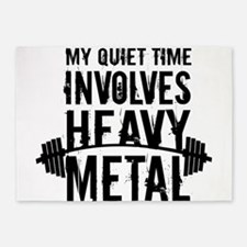 My Quiet Time Involves Heavy Metal 5'x7'Area Rug