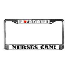 Nurse Love License Plate Frame