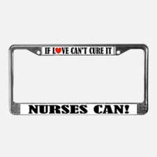 Nurse Love License Plate Frame