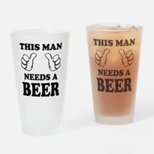this man needs a beer guy drinking Drinking Glass