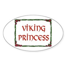 VIKING PRINCESS Oval Decal