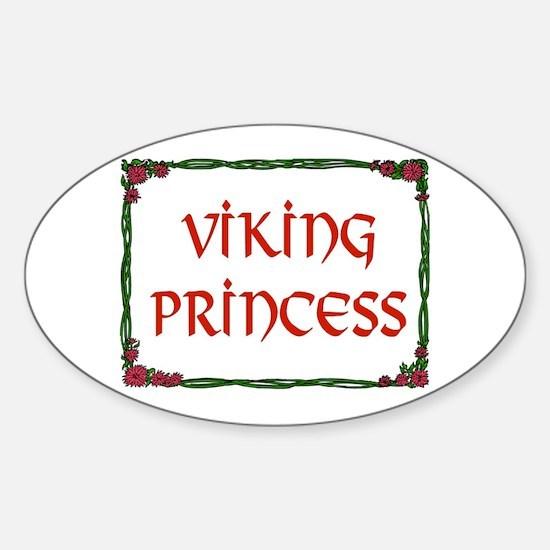 VIKING PRINCESS Oval Decal