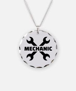 Crossed screw wrench mechani Necklace