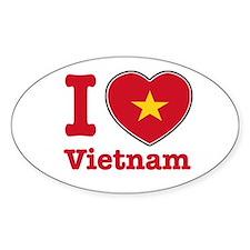 I love Vietnam Oval Decal