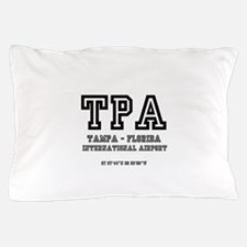 AIRPORT CODES - TPA - TAMPA, FLORIDA Pillow Case