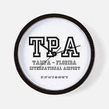 AIRPORT CODES - TPA - TAMPA, FLORIDA Wall Clock