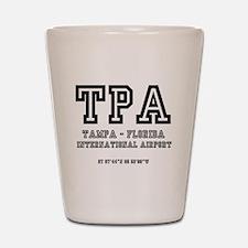 AIRPORT CODES - TPA - TAMPA, FLORIDA Shot Glass