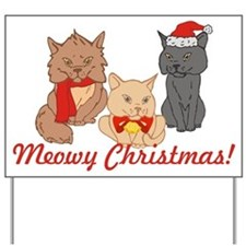 Meowy Christmas Cats Yard Sign