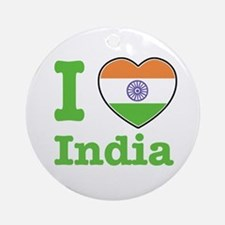 I love India Ornament (Round)
