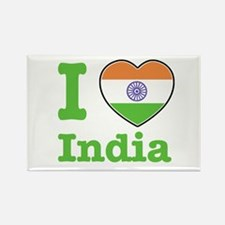I love India Rectangle Magnet (100 pack)
