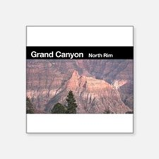 "Cute Grand canyon north rim Square Sticker 3"" x 3"""