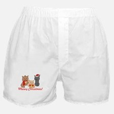 Meowy Christmas Cats Boxer Shorts
