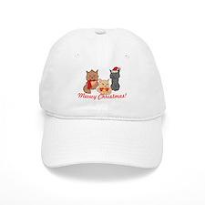 Meowy Christmas Cats Baseball Baseball Cap