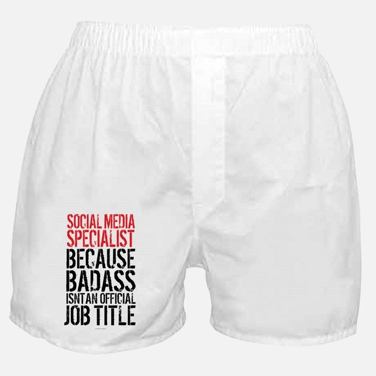Social Media Badass Boxer Shorts