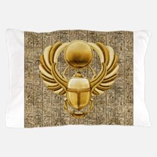 Gold Egyptian Scarab Pillow Case