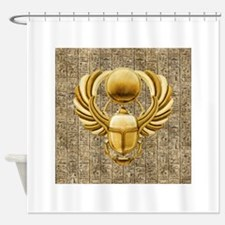 Gold Egyptian Scarab Shower Curtain