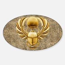 Gold Egyptian Scarab Stickers