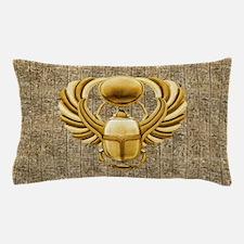 Gold Egyptian Scarab Pillow Case
