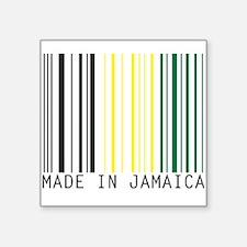 """Unique Jamaican flag Square Sticker 3"""" x 3"""""""