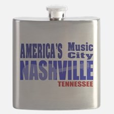 Nashville America's Music City-RWB Flask
