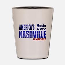 Nashville America's Music City-RWB Shot Glass