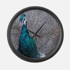 Strutting Peacock Large Wall Clock