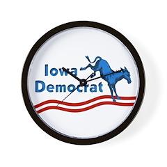 Iowa Democrat Wall Clock