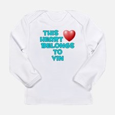 Cool Personalized valentine Long Sleeve Infant T-Shirt