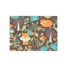 Woodland Fox 5'x7'Area Rug