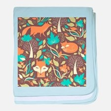 Woodland Fox baby blanket