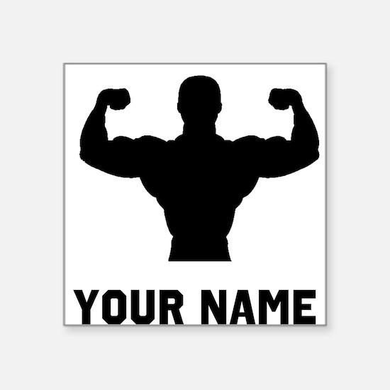 Bodybuilder Silhouette Sticker