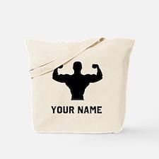 Bodybuilder Silhouette Tote Bag