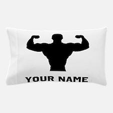 Bodybuilder Silhouette Pillow Case