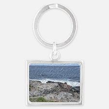Rocks and Waves Travel Landscape Keychain