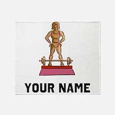 Weightlifting Trophy Throw Blanket
