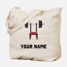 Weightlifting Bench Tote Bag