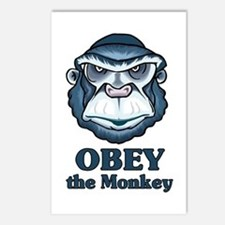 Obey the Monkey Postcards (Package of 8)