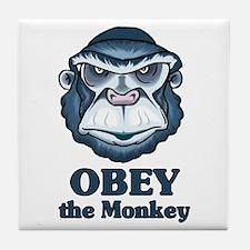 Obey the Monkey Tile Coaster