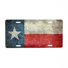 Texas state flag vintage re Aluminum License Plate