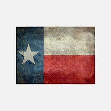 Texas state flag vintage retro styl 5'x7'Area Rug