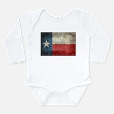 Texas state flag vintage retro style ori Body Suit