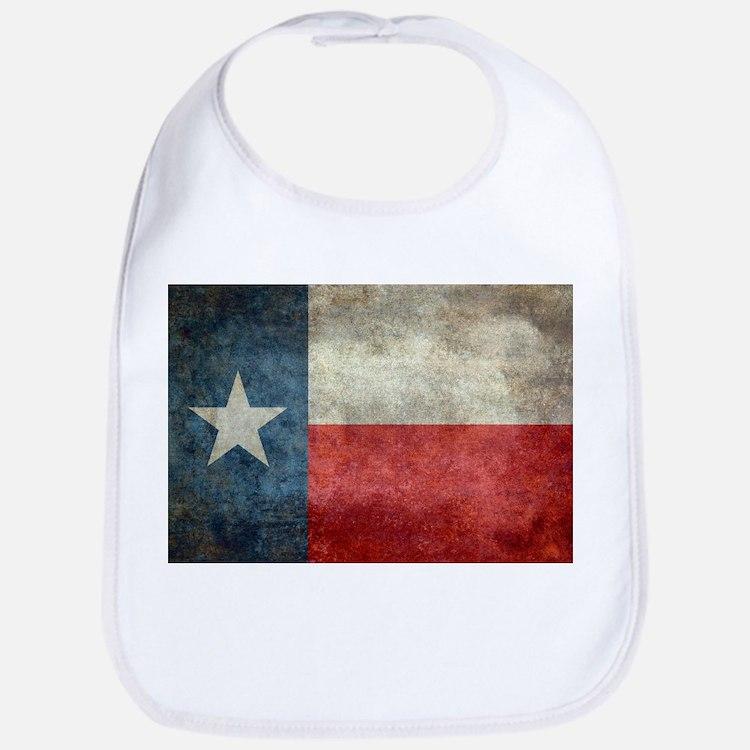 Texas state flag vintage retro style original Bib