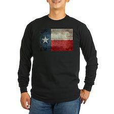 Texas state flag vintage retro Long Sleeve T-Shirt
