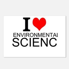I Love Environmental Science Postcards (Package of