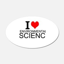 I Love Environmental Science Wall Decal